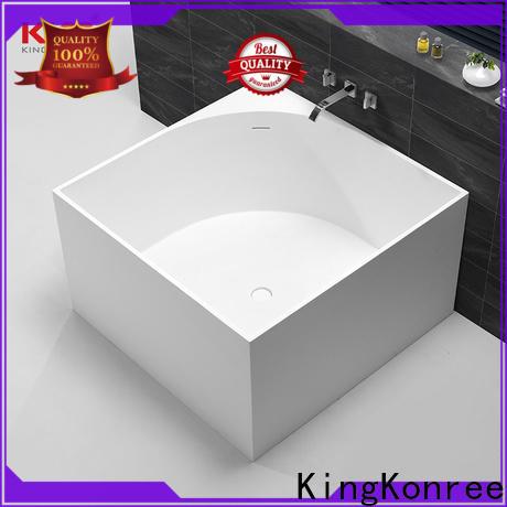 KingKonree practical freestanding soaking tub custom for hotel