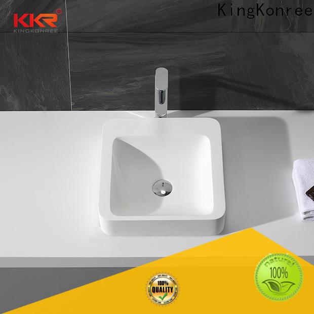 KingKonree kkr1052 above counter vanity basin customized for restaurant