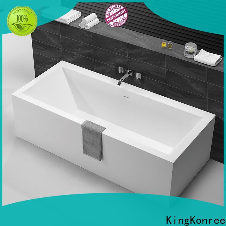 KingKonree black stone resin bath ODM for shower room