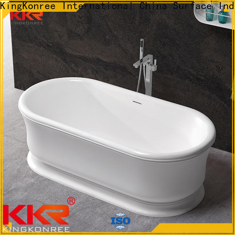 KingKonree resin stone bathtub custom for bathroom
