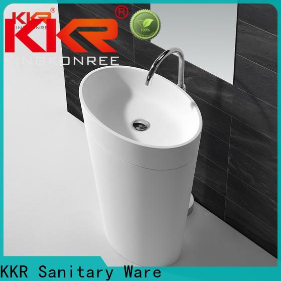 KingKonree artificial floor standing basin manufacturer for bathroom