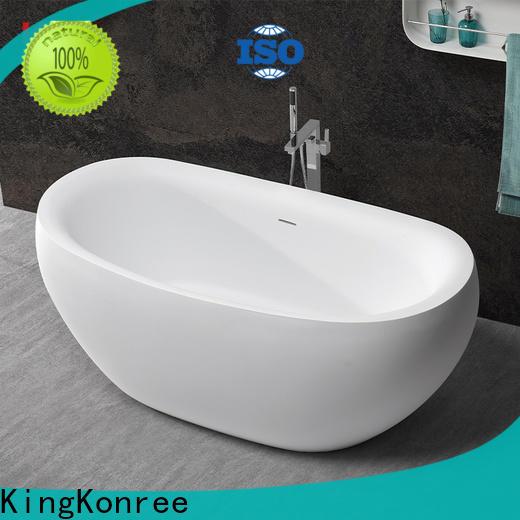 KingKonree black corner tub supplier for bathroom