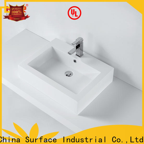 KingKonree durable above counter vessel sink customized for home