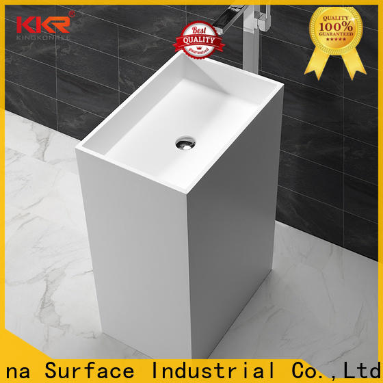 KingKonree black bathroom sink stand customized for hotel