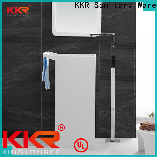 pan shape freestanding pedestal sink customized for home