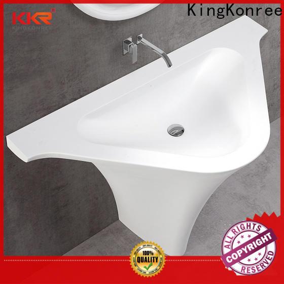 KingKonree rectangle pedestal sink factory price for motel