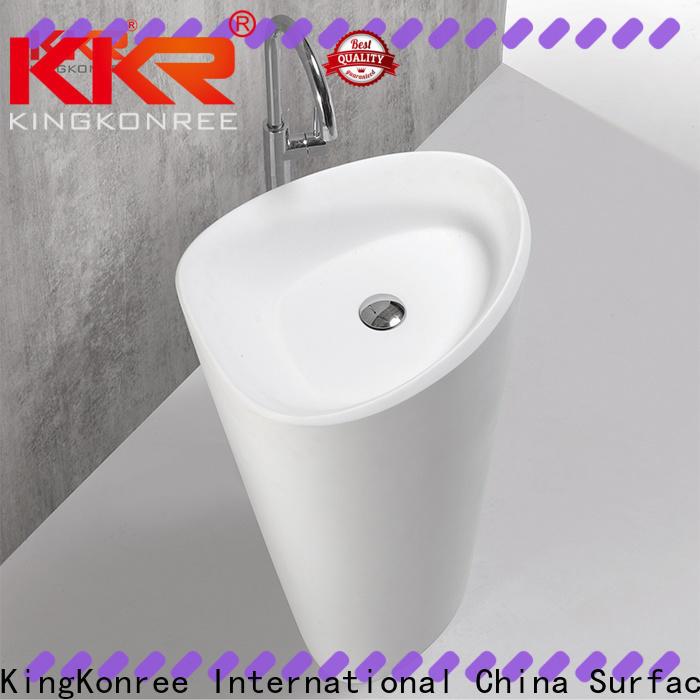 KingKonree gel freestanding bathroom basin supplier for hotel