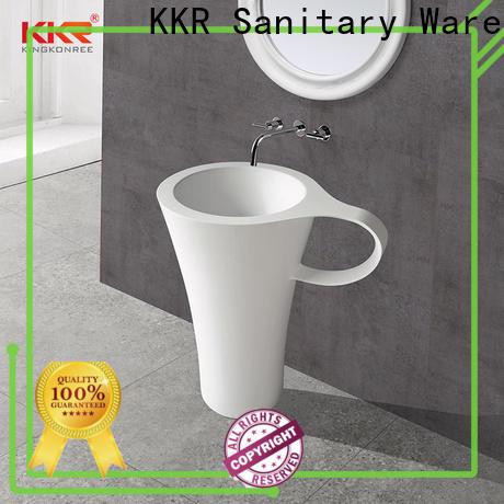 KingKonree freestanding bathroom basin factory price for hotel