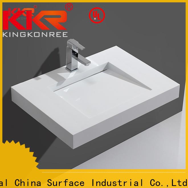 KingKonree solid surface wash basin on-sale