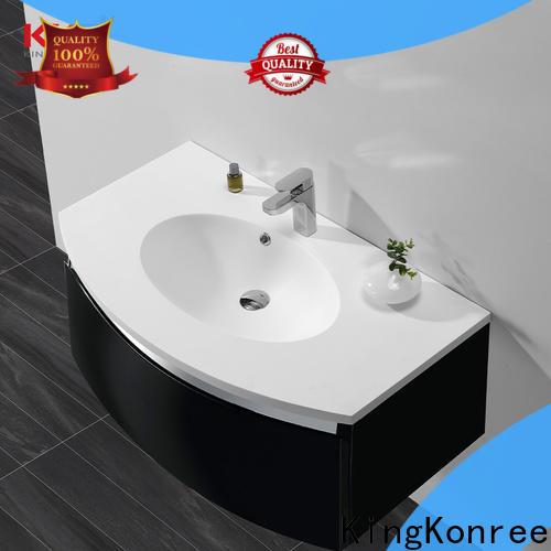 KingKonree straight pedestal basin cabinet supplier for bathroom