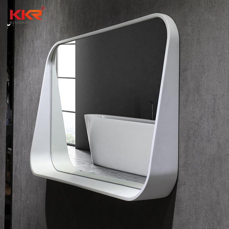 High-end Solid Surface Frame Bathroom Mirror KKR-2002