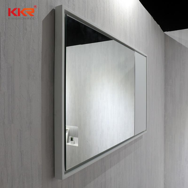 Solid Surface Frame Marble Stone Color Bathroom Led Mirror KKR-1570