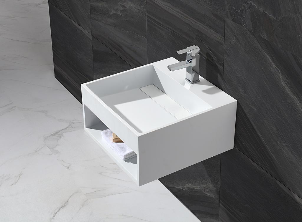 KingKonree marble small wall hung basin manufacturer for hotel-1