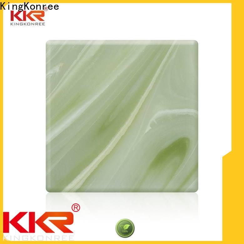 KingKonree durable translucent stone panels price under-mount for home