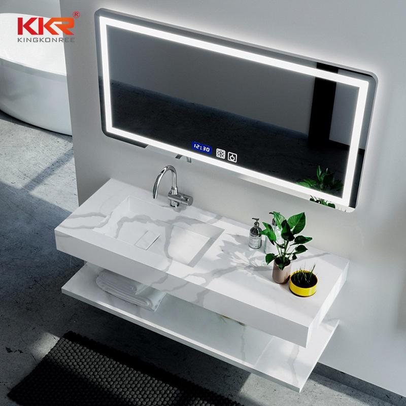 Hot Sales Royal Design Artificial Stone Natural Marble Pattern Solid Surface Wall Huang Wash Basin M069