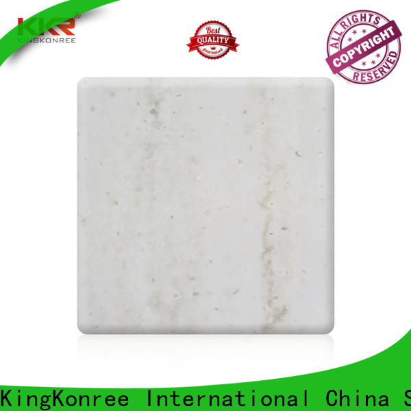 KingKonree white solid surface sheets for sale directly sale for room