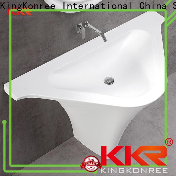 KingKonree pedestal wash basin customized for home