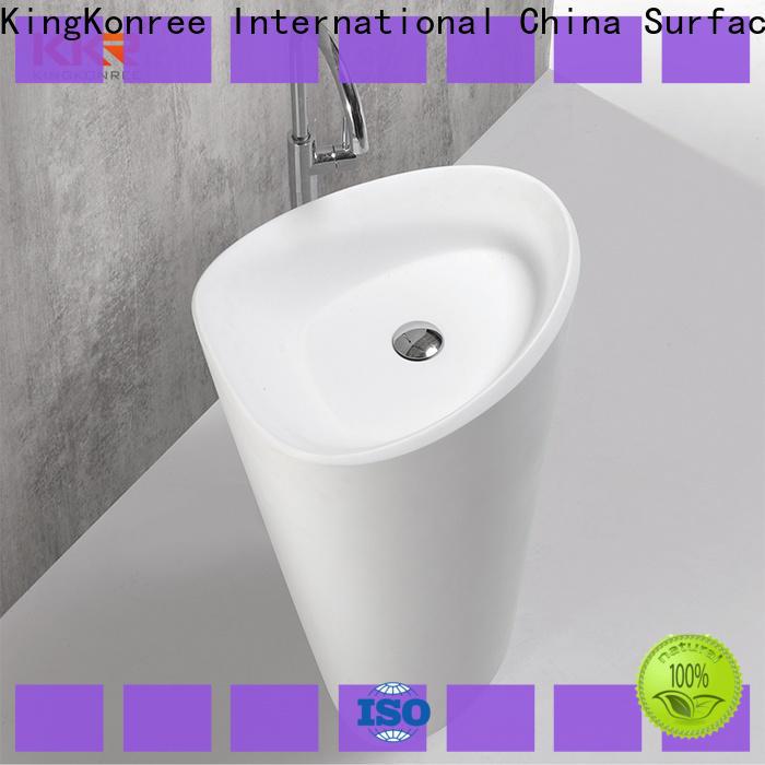 KingKonree thin freestanding basin manufacturer for bathroom