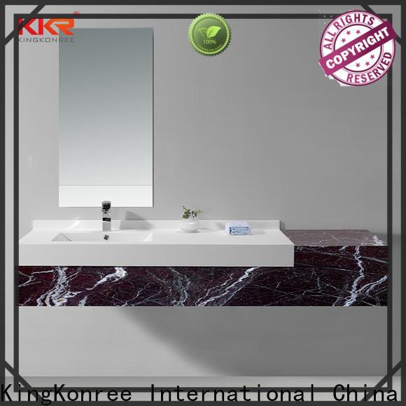 KingKonree rectangle basin and cabinet design for toilet