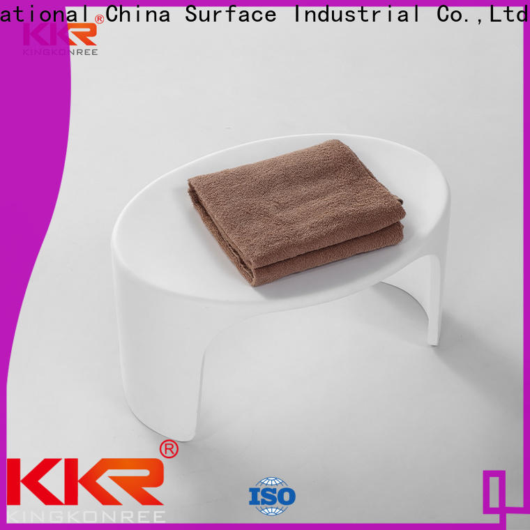 soild white shower stool supplier for home