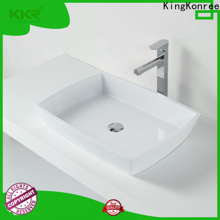 KingKonree top mount bathroom sink supplier for room