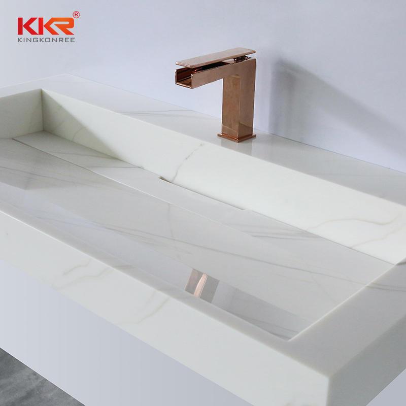Artificial Stone Resin Basins Sink Acrylic Solid Surface Lavabo Bathroom Washbasin Wash Basin Sink KKR-M8818