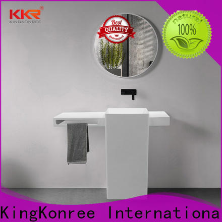 KingKonree standard freestanding bathroom basin factory price for bathroom