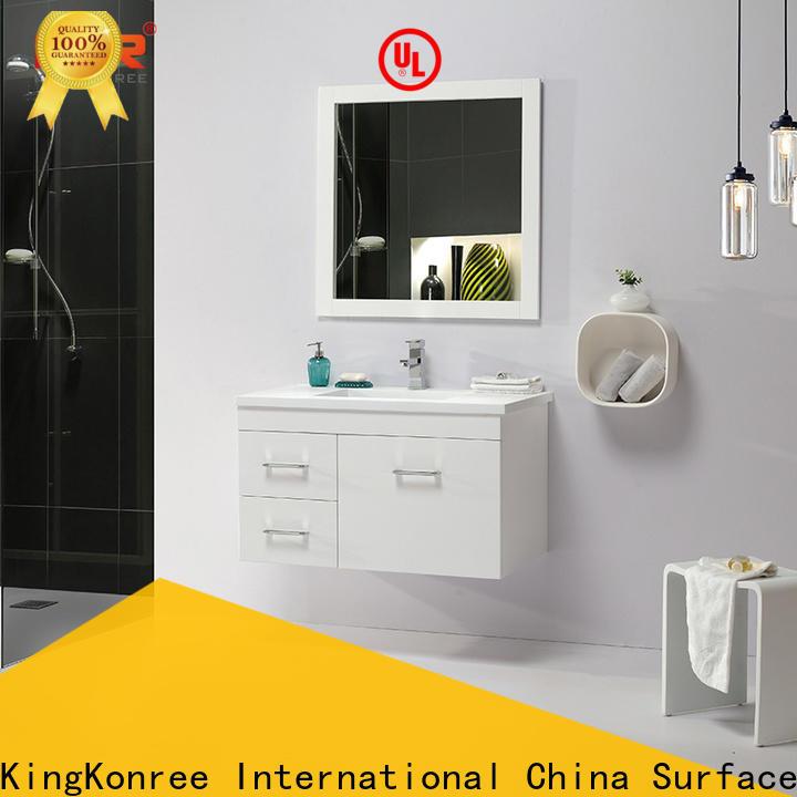 KingKonree sturdy toilet vanity cabinet supplier for motel