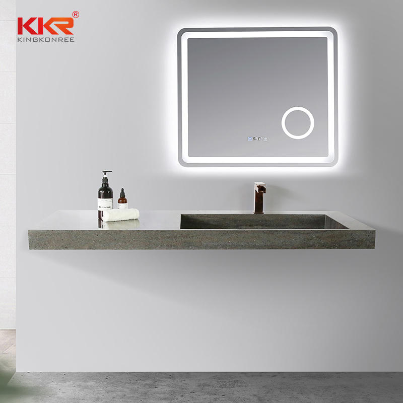 KKR Marble Pattern Wash Basin Modified Acrylic Solid Surface Wall Hung Bathroom Basins Bathroom Sink KKR-M8873-2