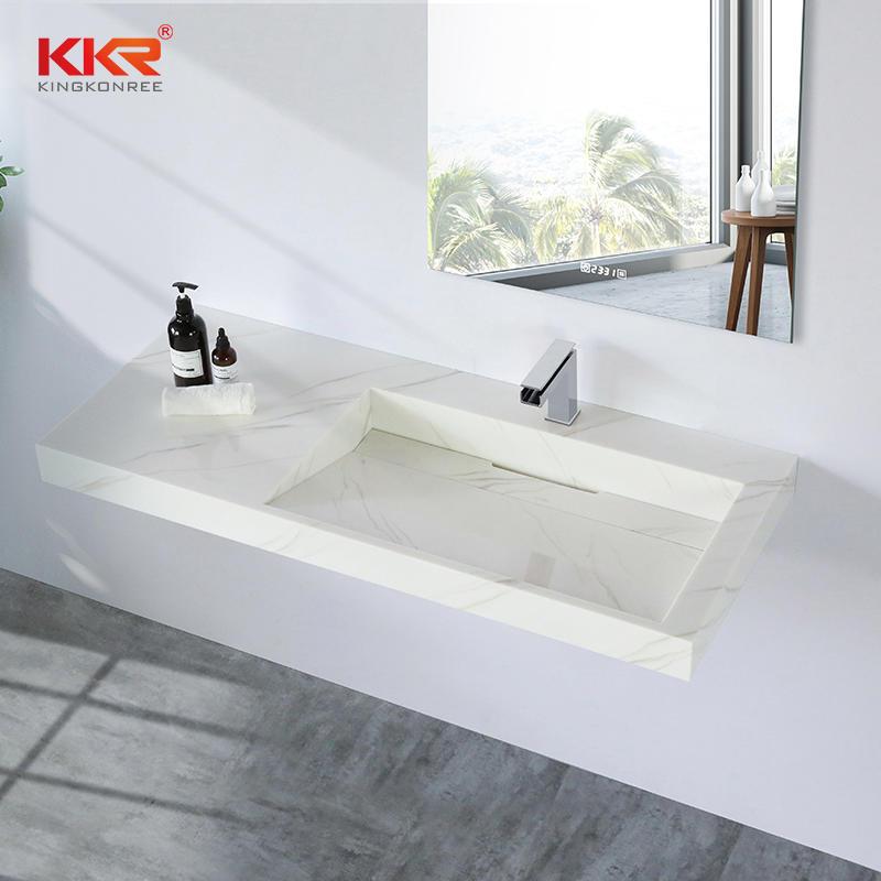 Fabricated Solid Surface Bathroom Vanity Sinks KKR-M8818-2