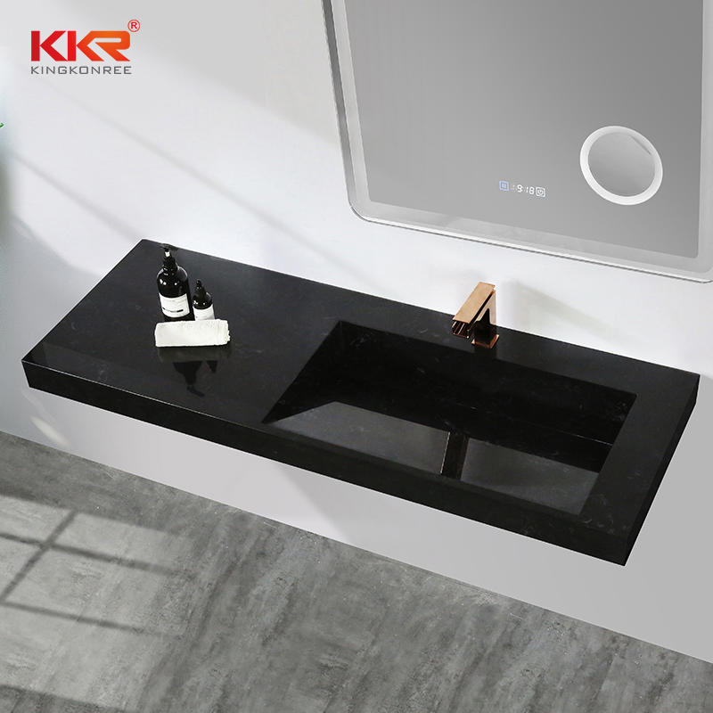 Hotel Modern Poly Marble Stone Basin Marble Solid Surface Rectangle Vessel Sink Bowl KKR-M7807