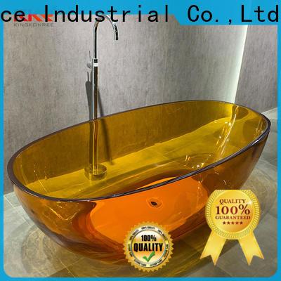 KingKonree artificial stone bathtub supplier for family decoration