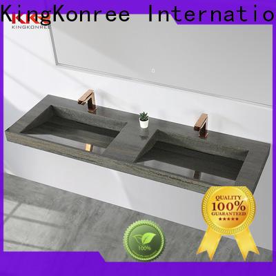 KingKonree pedestal sink wall bracket sink for toilet