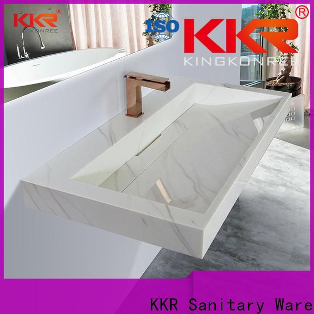 KingKonree wall hung concrete basin manufacturer for bathroom