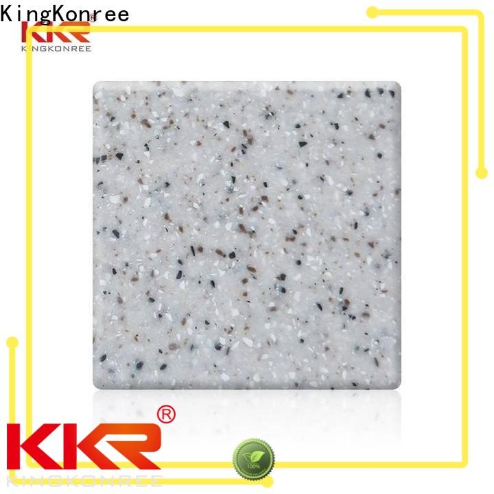 KingKonree white acrylic solid surface sheets with good price for hotel