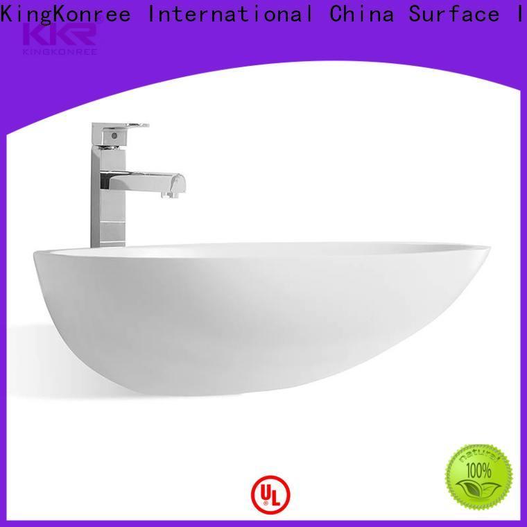 KingKonree white table top wash basin design for home