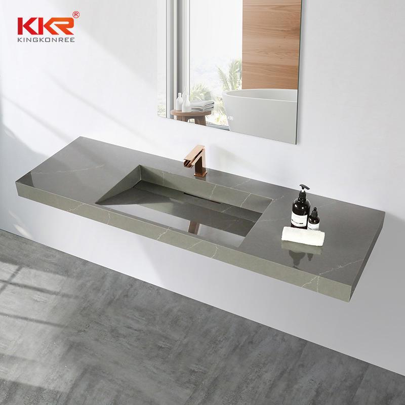 Artificial Stone Solid Surface Rectangular Bathroom Vanity Sinks Modern Bathroom Vanity Wash Basin KKR-M072