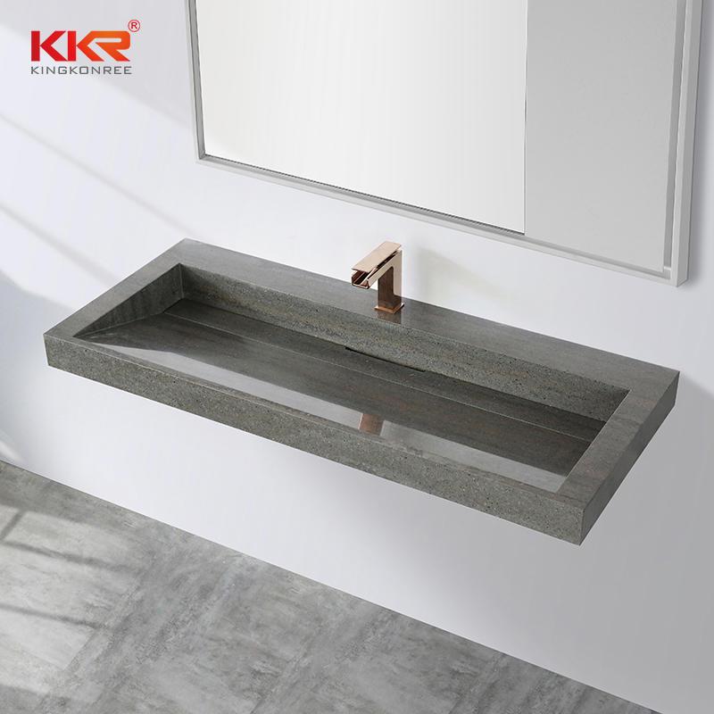 Artificial Stone Solid Surface Rectangular Bathroom Vanity Sinks Modern Bathroom Vanity Wash Basin KKR-M8873-1