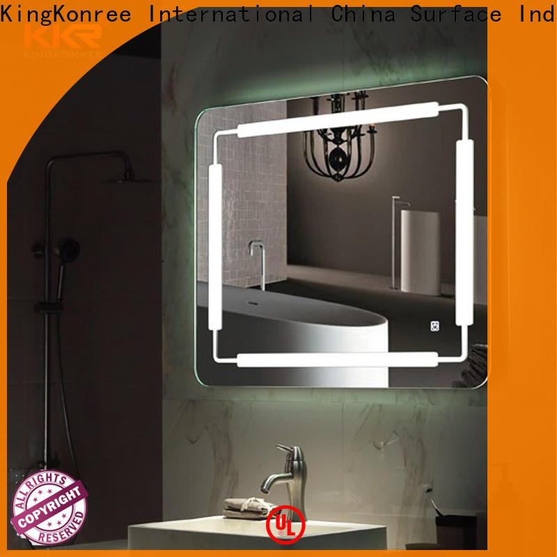 KingKonree corner cool bathroom mirrors manufacturer for hotel