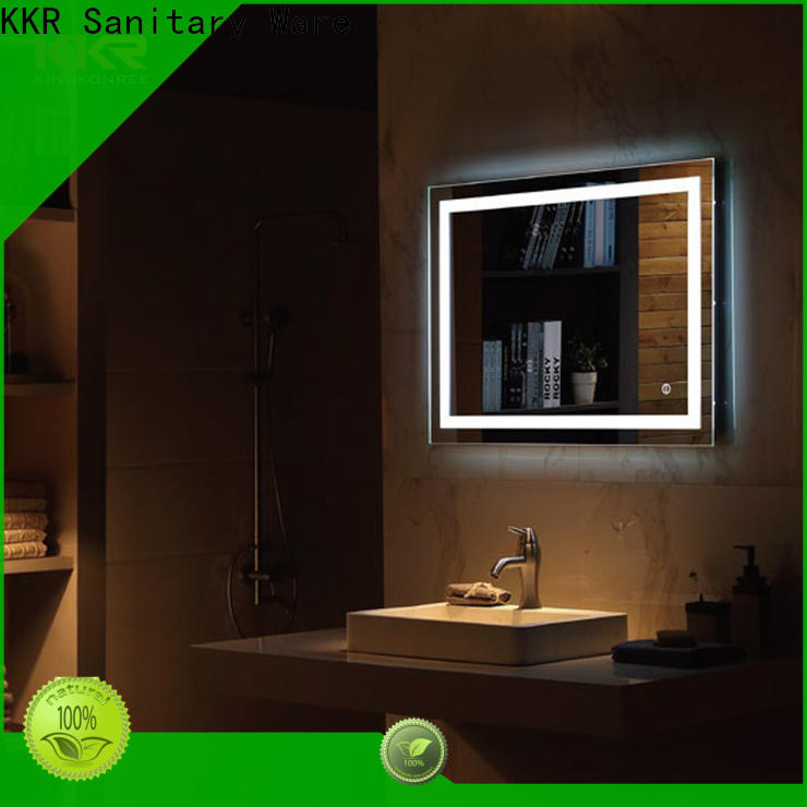 KingKonree mirror with led lights supplier for toilet