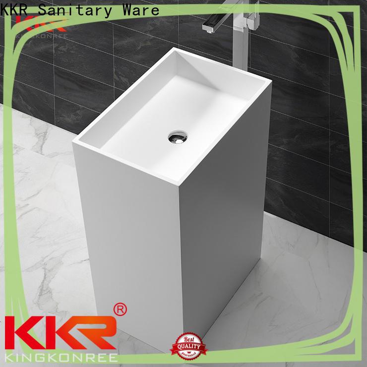 shelf freestanding pedestal sink design for hotel