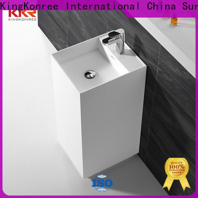KingKonree rectangle freestanding pedestal sink supplier for bathroom