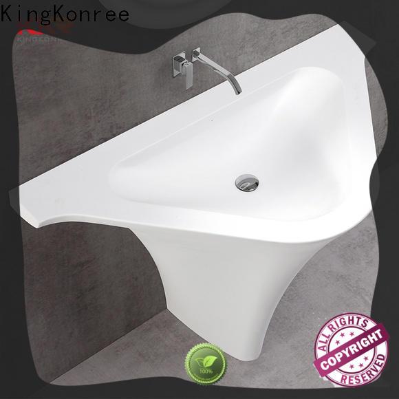 KingKonree shelf pedestal sink manufacturer for hotel