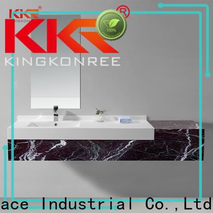 KingKonree luxurious basin cabinet with mirror sinks for motel