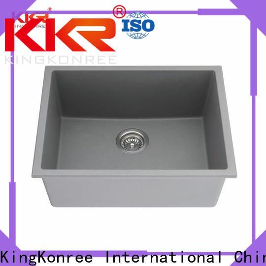 KingKonree reliable rectangular undermount bathroom sink customized for apartment