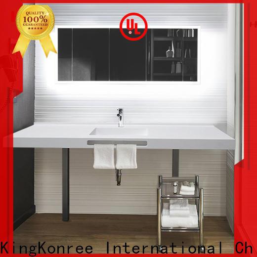 KingKonree resin custom bathroom countertops supplier for motel