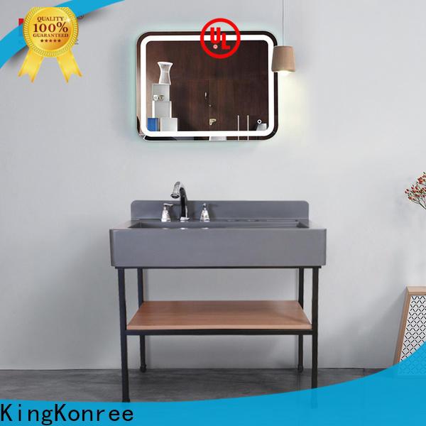 KingKonree white quartz bathroom countertops latest design for bathroom