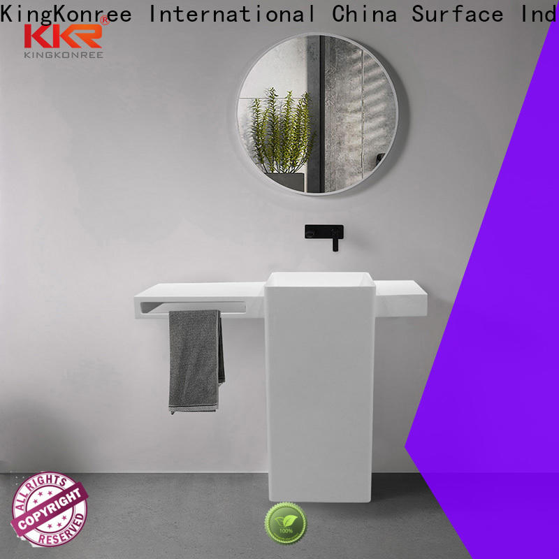 professional freestanding pedestal sink customized for motel
