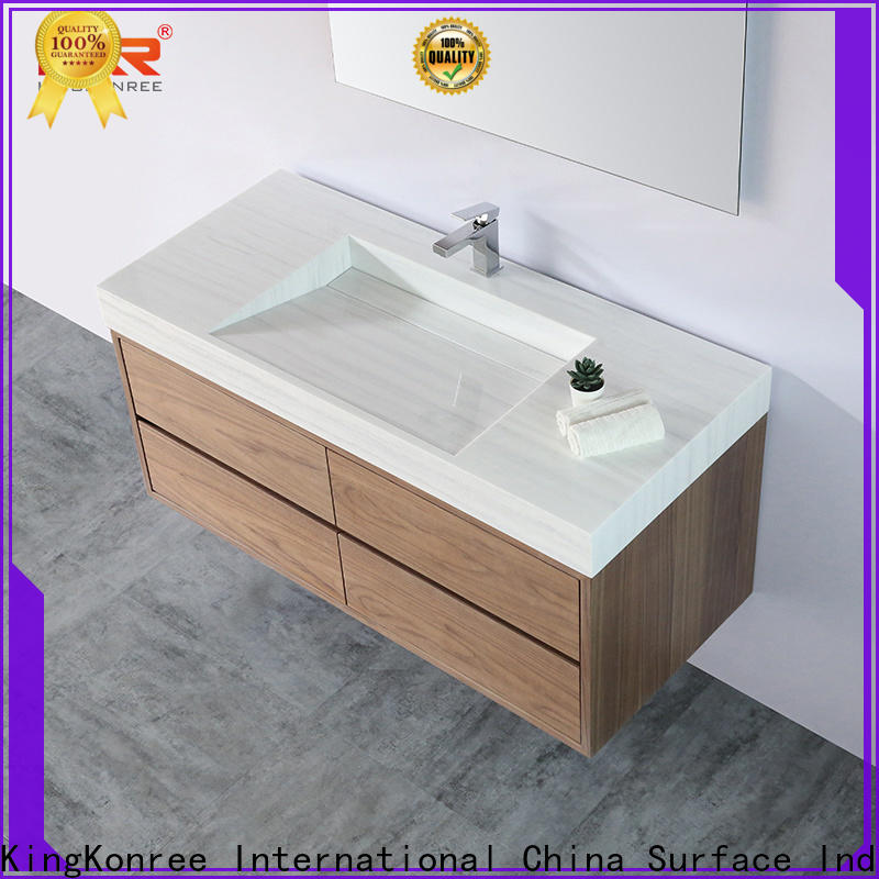 KingKonree sink and cabinet combo supplier for motel
