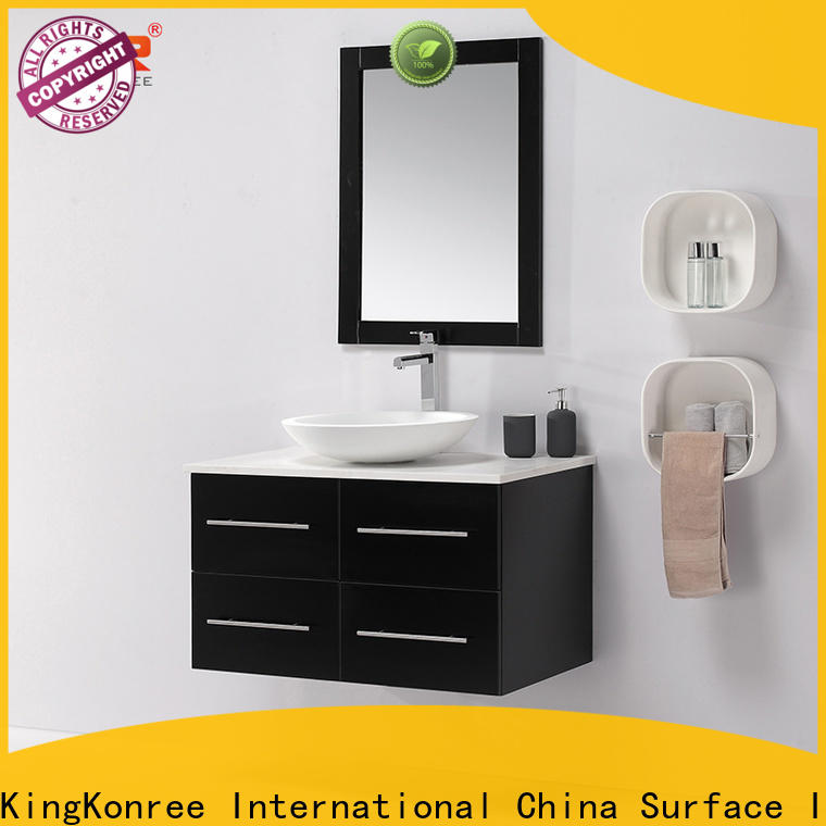 stable floating bathroom cabinet supplier for households